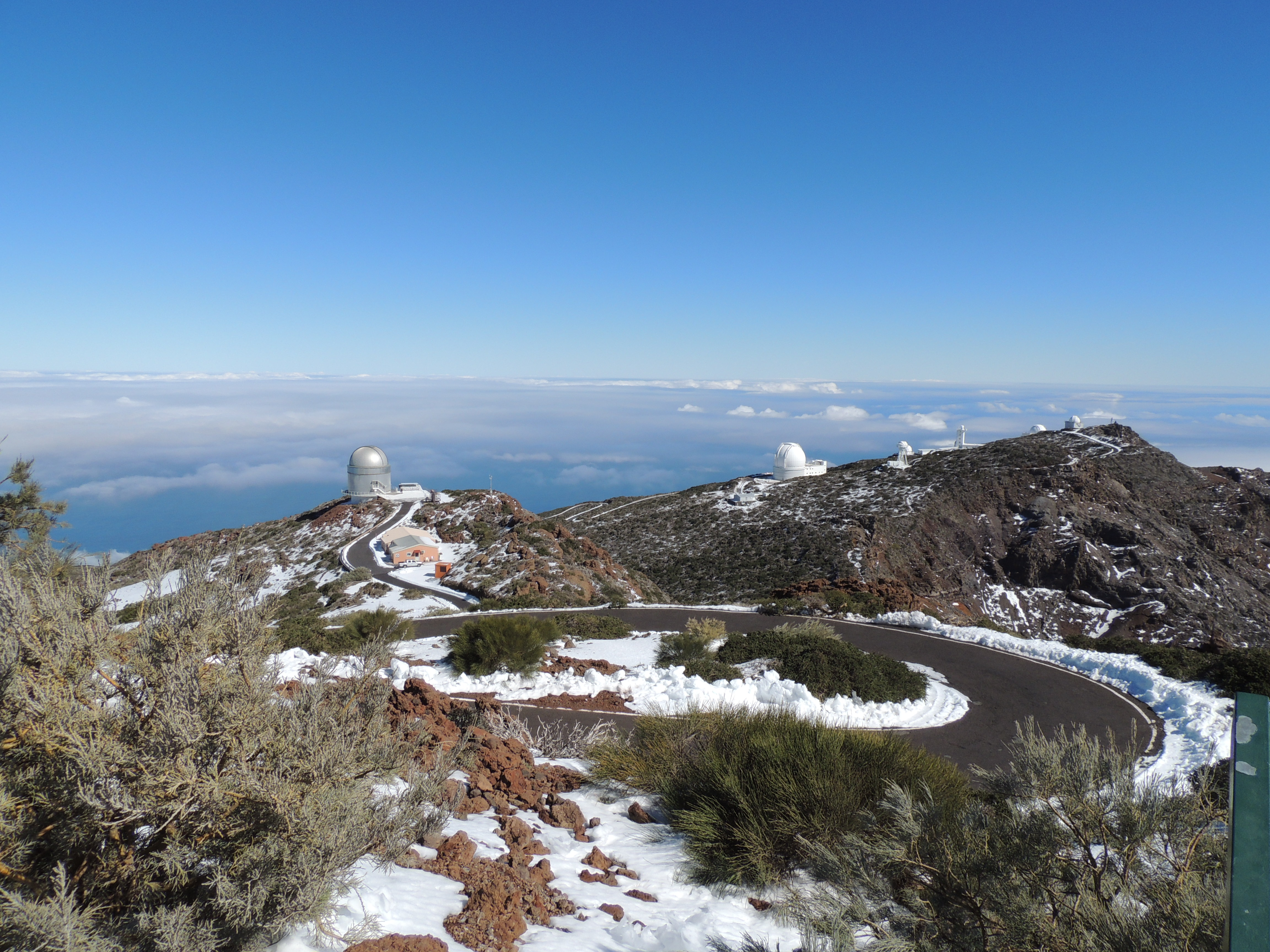 Sne på Roque de Los Muchachos