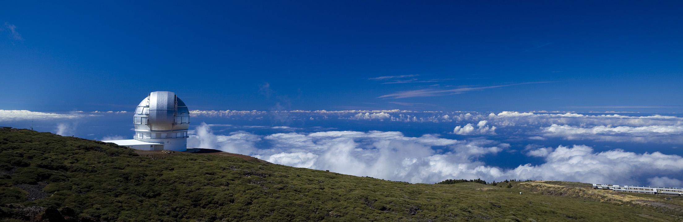 Roque de los Muchachos med et af observatorierne