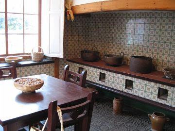 Et gammelt køkken i Casa Roja - Det røde hus